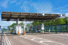 Customs Zone at the Ferry terminal in Ventspils Stock Photos