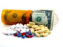 Custos da medicamentação da prescrição Fotografia de Stock