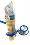 Custos da saúde com francos suíços Fotografia de Stock