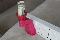 Custos de eletricidade elevados Foto de Stock Royalty Free