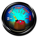 Custos do combustível. Imagens de Stock Royalty Free