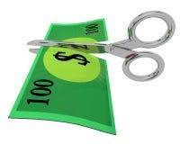 Custos do corte, incluindo no orçamento Imagens de Stock Royalty Free