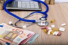 Custos dos cuidados médicos Fotografia de Stock