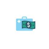 Custos e despesas dos cuidados médicos que mostram o conceito do healt caro Fotografia de Stock Royalty Free