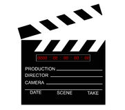 Cut. Movie  digital gearand vector black and white Royalty Free Stock Image