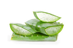 Cut aloe leaves Stock Photo