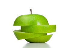 Free Cut And Thrown Of Center Apple Royalty Free Stock Image - 19125496