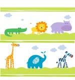 Cut animals wallpaper. Illustration art stock illustration