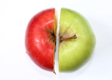 Cut apple Stock Image