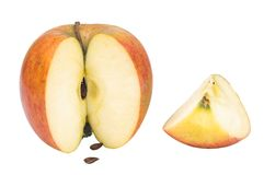 Cut apple stock images