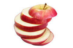 Cut apple Stock Photo