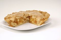 Cut apple pie Royalty Free Stock Photo