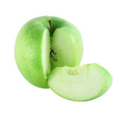 Cut apple with piece Royalty Free Stock Images
