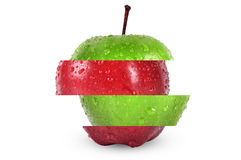 Cut apple Royalty Free Stock Images