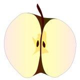 Cut Apple Royalty Free Stock Photos
