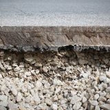Cut asphalt Stock Photography