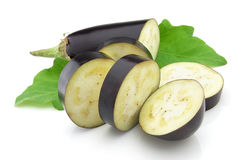 Cut aubergine Royalty Free Stock Images