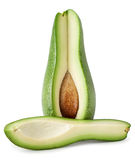 Cut avocado with bone Stock Images