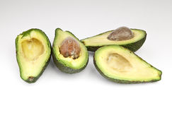 Cut avocado fruit Stock Image