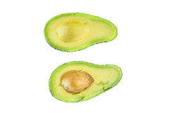 Cut Avocado. Picture of a cut avocado taken in studio Royalty Free Stock Image