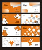 Cut-away. Bright orange cut-aways, orange puzzle, cut-away for the successful company, bright style royalty free illustration