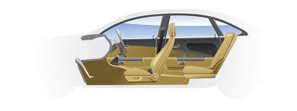 Cut-away  car. Royalty Free Stock Images