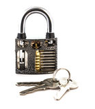 Cut Away Padlock royalty free stock images