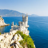 Cut-away of the South Coast of Crimea Yalta, Swallow's Nest Cast Royalty Free Stock Photo