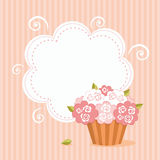 Cut background with cupcake Stock Image