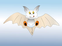 Cut bat. A cut bat flying on the blue sky Royalty Free Stock Image