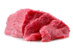 Cut of  beef steak on white. Stock Images