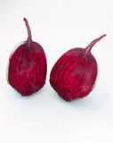 Cut beet on white background Royalty Free Stock Photography