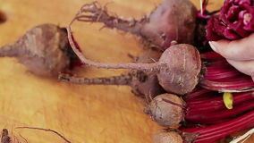 Cut Beets stock video footage