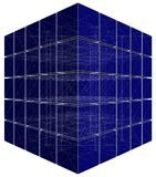 Cut Blue Cube With Hidden Lines Vector Stock Image