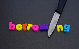 Cut borrowing: advice to government. Stock Photo