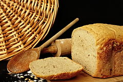 Cut bread. Bakery products and theirs prepair stock photos