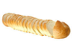 The cut bread  isolated on the white background Stock Image