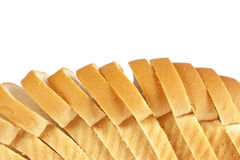 Cut bread isolated Royalty Free Stock Image