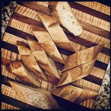 Cut bread stock image