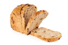 The cut bread. On a white background royalty free stock photography
