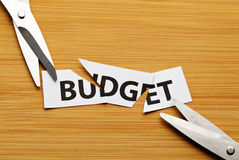 Cut budget Stock Photo