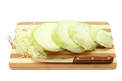 The cut cabbage Royalty Free Stock Images
