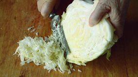 Cut cabbage. For soup or salad stock footage
