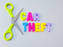 Cut car theft Royalty Free Stock Image
