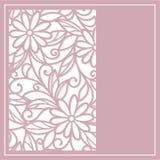 Cut card. Template  frame  design for greeting card Stock Photos