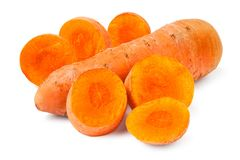 Cut carrot Stock Photography