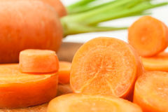 Cut carrot Royalty Free Stock Images