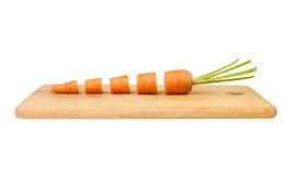 Cut carrot Stock Image