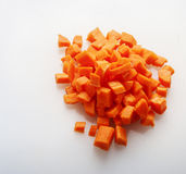 Cut carrot on white background Stock Image