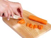 Cut carrots. Isolated Royalty Free Stock Photo
